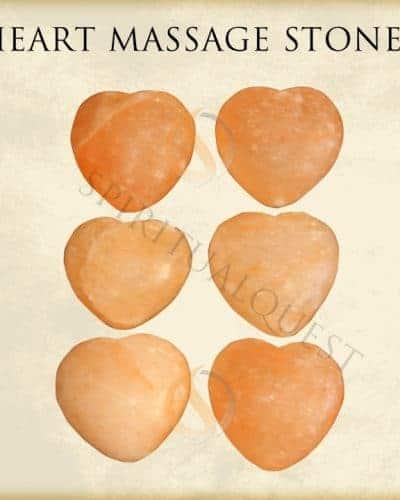 Heart Shaped Himalayan Massage Stones (6) - Wholesale