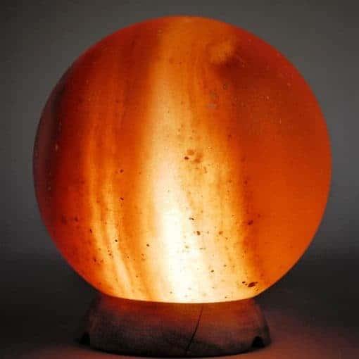 """Himalayan Salt Lamp Globe Salt Ball 8-9"""" tall 9lbs est"""