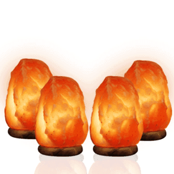 4 medium salt lamps