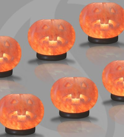 Pumpkin Himalayan Salt lamps