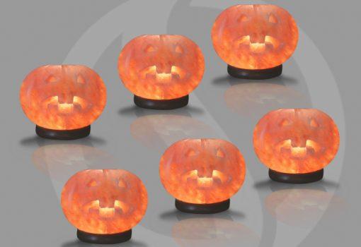 Pumpkin Himalayan Salt lamps