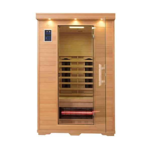 Executive Two Person Infrared Salt Cave Sauna – Ultra Low EMF