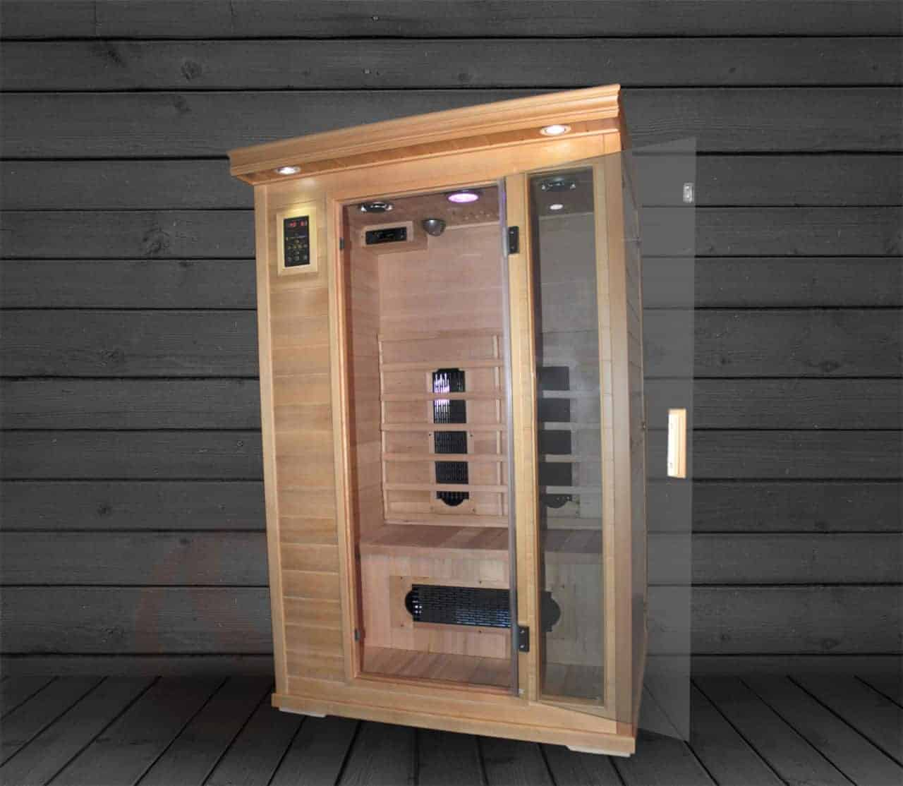 """Executive Two Person Infrared Sauna - Ultra Low EMF - 48x42x75"""""""