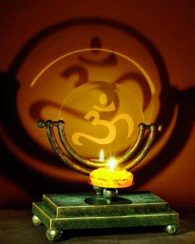 Om Symbol Adjustable Projection Candle Holder