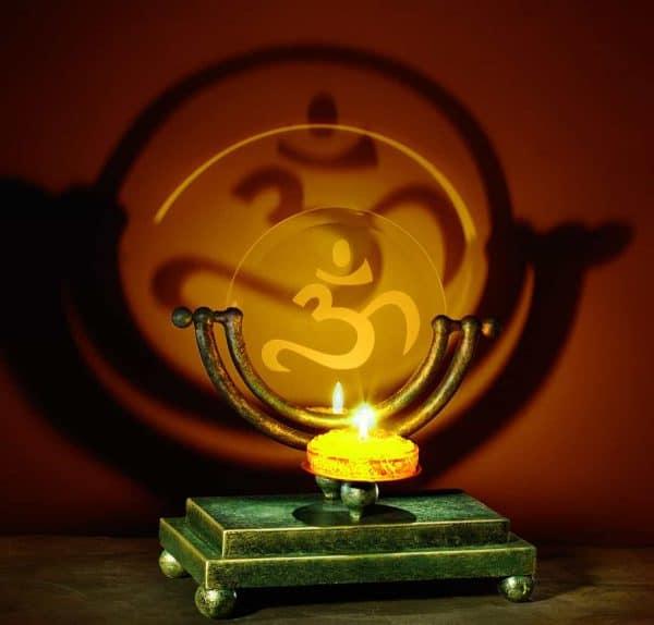 Om Symbol Adjustable Projection Candle Holder