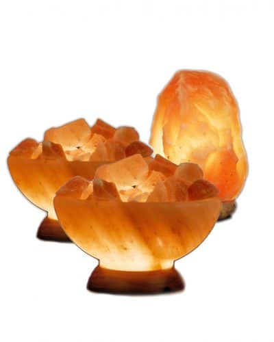 2 salt lamp bowls and one medium salt lamp free by spiritualquest