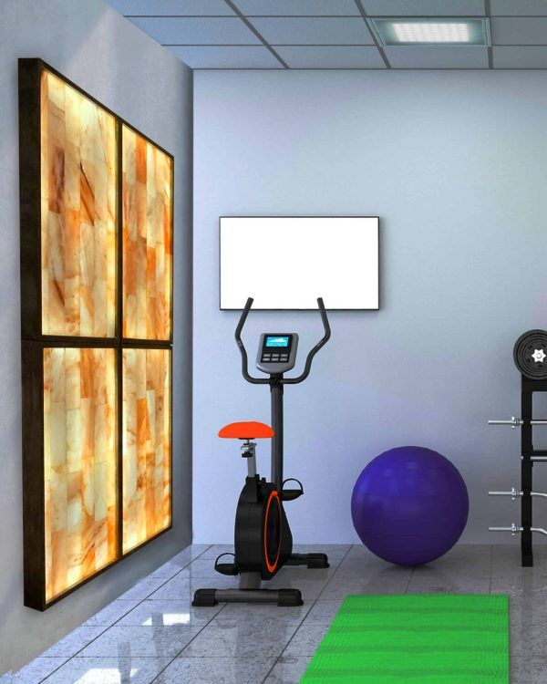 Himalayan Salt Wall Workout Room