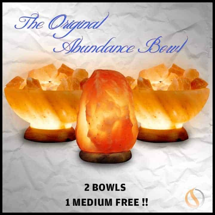 Buy 2 Abundance Bowls Get A Medium Himalayan Salt Lamp Free