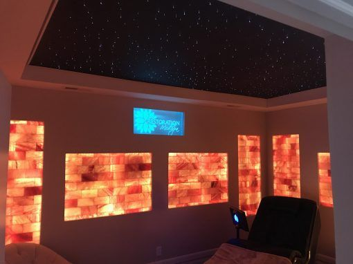 salt cave in a box himalayan salt panel and wall complete plug and play