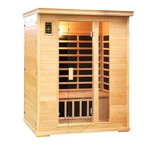 2 person carbon fiber salt cave sauna