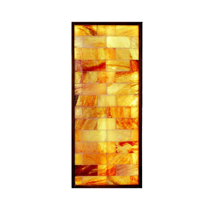 2′ x 5′ Vertical Salt Brick Wall Panel with LED Backlight