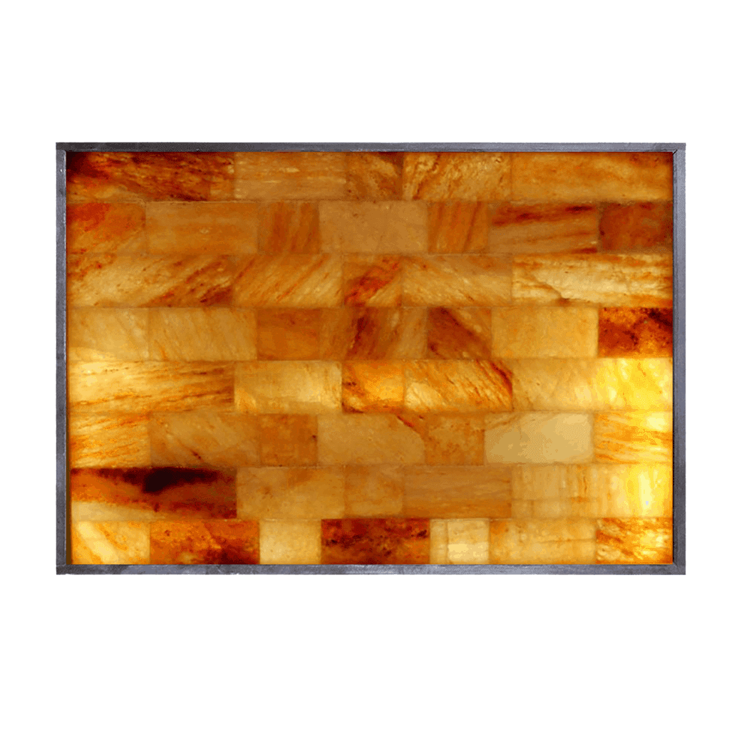3' x 4' Horizontal Salt Brick Wall Panel