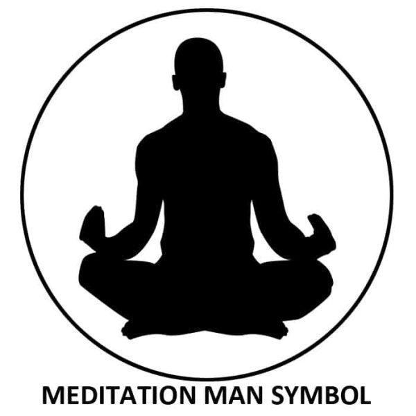 Meditation Man Symbol