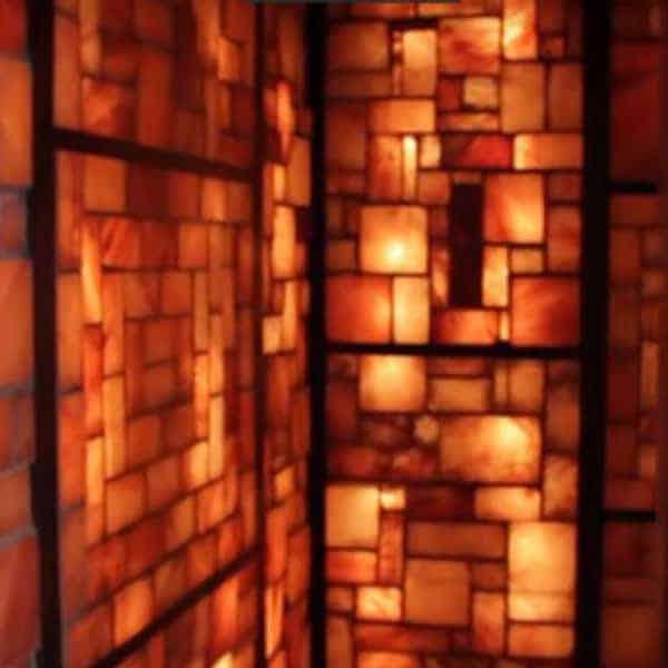 custom salt room with salt wall panels
