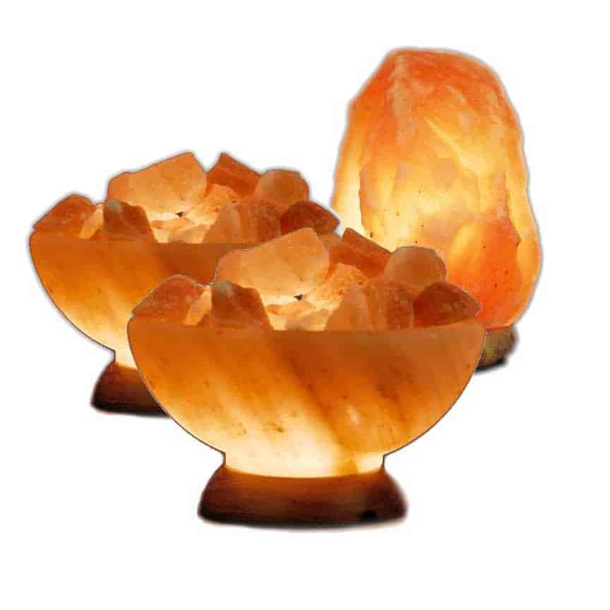 2 Abundance Bowls and One Medium Salt Lamp Value Pack