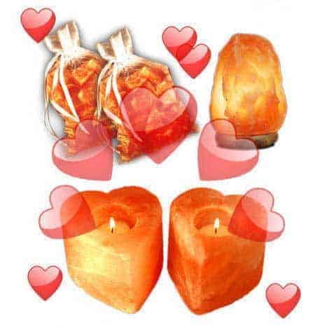 """The """"I Love You"""" Himalayan Salt Lamp 5 Piece Value/Gift Pack"""
