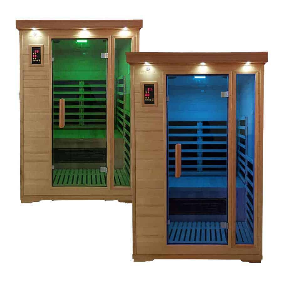Spa Pack: Two Duet Two Person Carbon Fiber Salt Cave Saunas