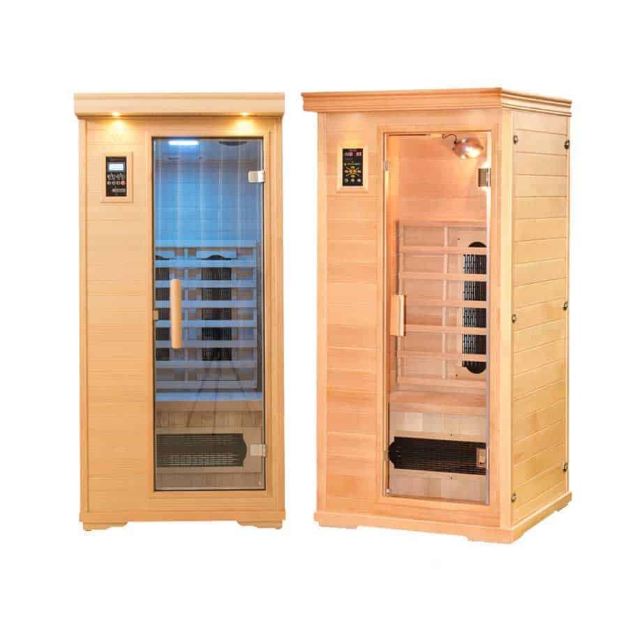 SPA PACK: Two Single Person Executive Ceramic Tube Saunas