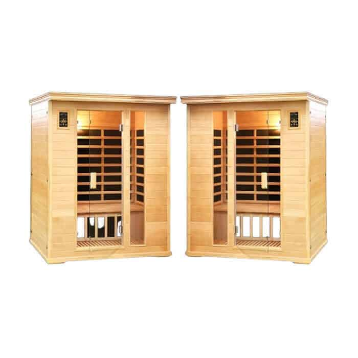 SPA PACK: Two Duet Two Person Salt Cave Saunas