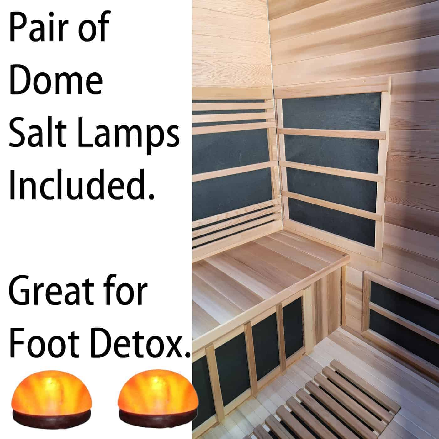 pair of domes lamps for foot detox
