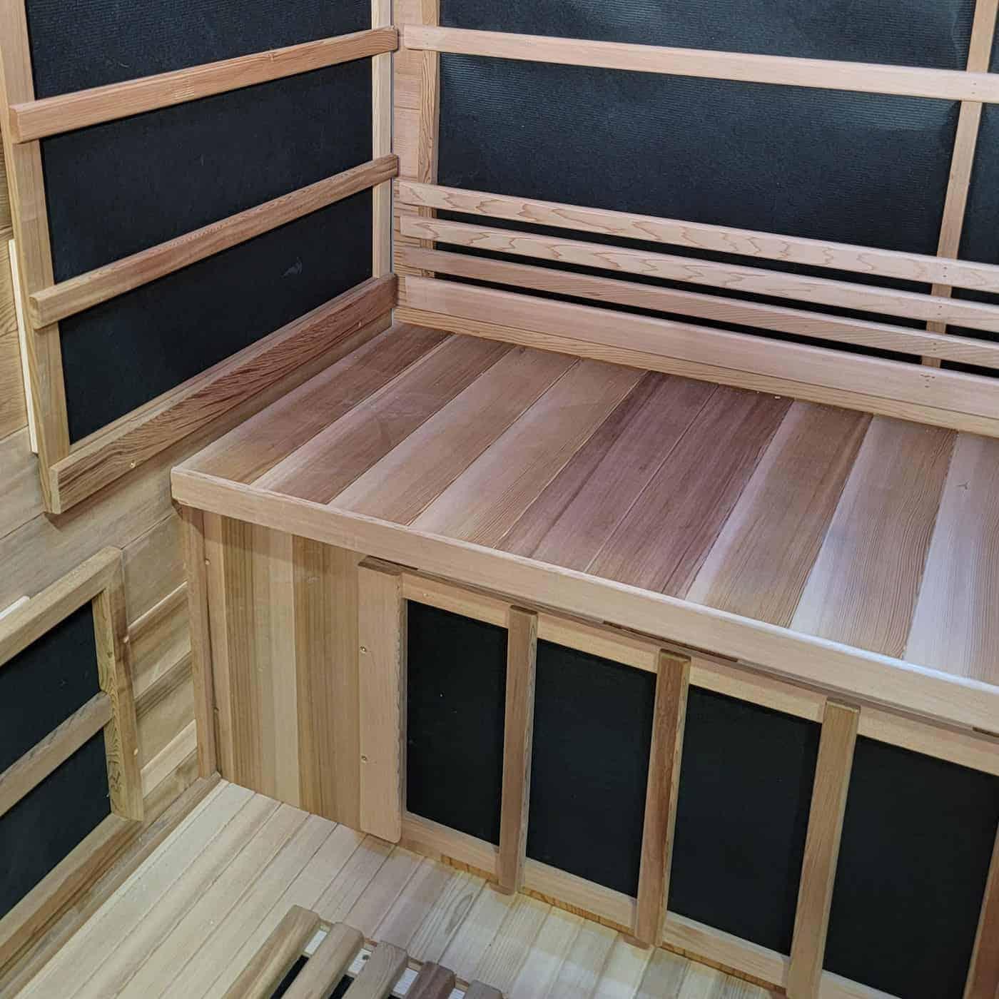 Outdoor Infrared Sauna Interior View