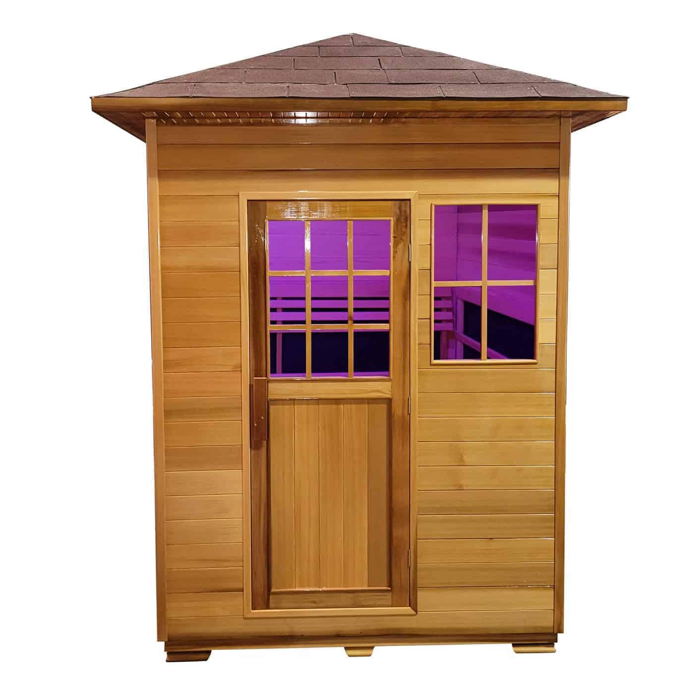 Outdoor Infrared Sauna Front View